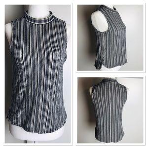 Made well Cotton Turtleneck Knit Sleeveless Shirt